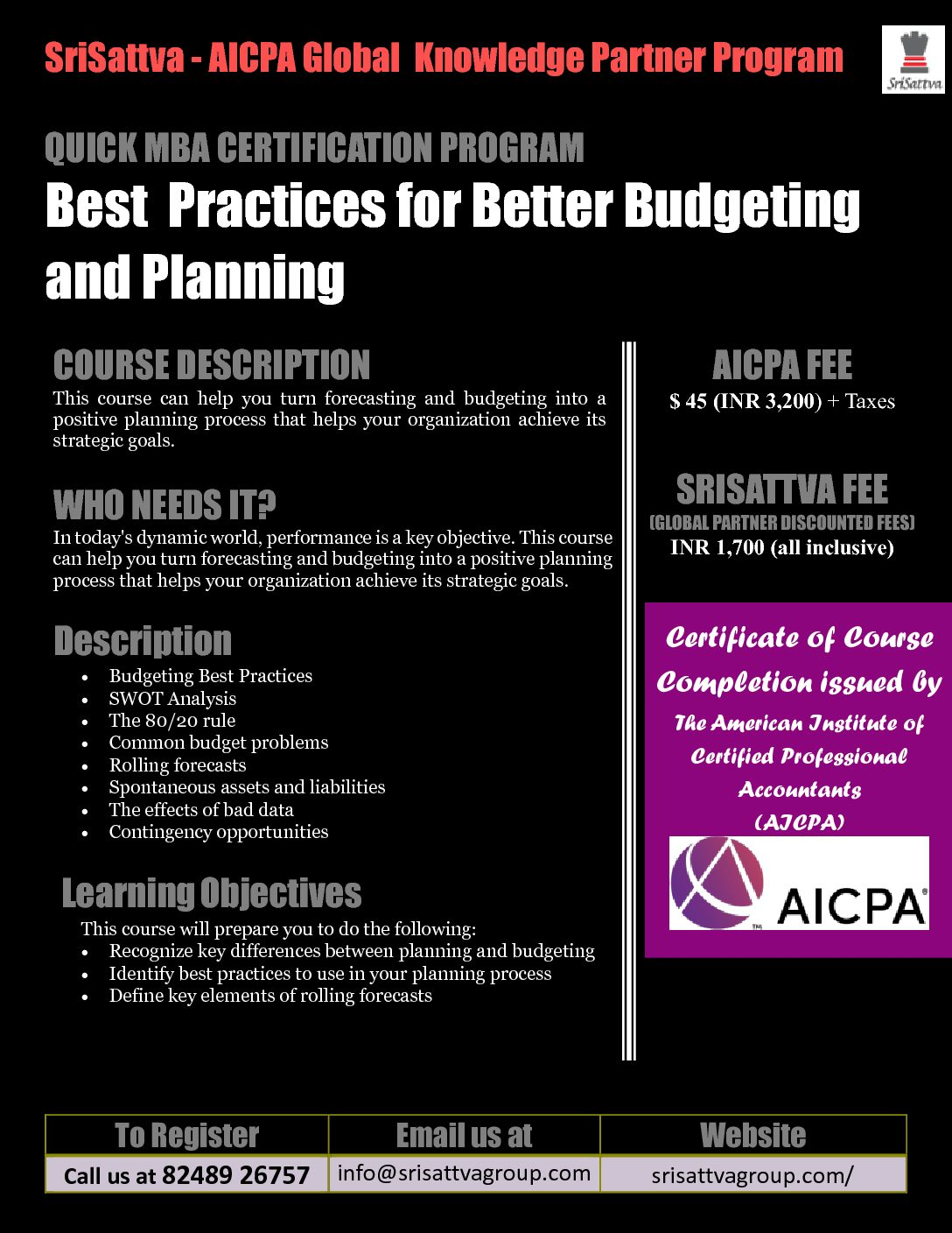 American Certification - Budgeting Session